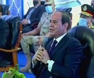 """السيسي: """"التنمية اللى عملناها فى سيناء عمرها ما كانت هتتعمل فى المدة ده"""""""