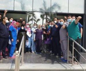 خروج 14متعافيا من كورونا تلقوا العلاج بمستشفى أبو خليفة للحجر الصحى..صور