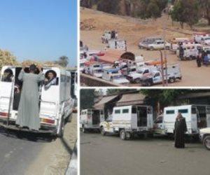 """""""العربية الكبود"""".. قصة سيارات أجرة """"ذات صندوق"""" نقل غير آدمى بأسوان"""