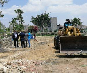 داخل جزيرة بأبو النمرس.. رصد أعمال ردم في نهر النيل لأحد رجال الأعمال (صور)