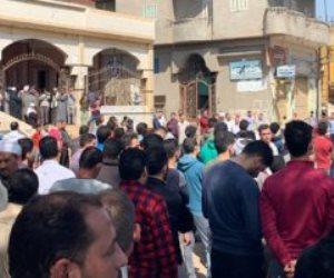 الآلاف يشيعون جثمان شهيد سيناء فى جنازة عسكرية بمسقط رأسه في الدقهلية (صور)