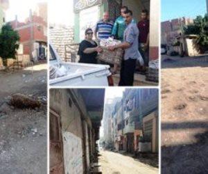 جولة في قرى العزل.. تعقيم المنازل ببني سويف وصرف مساعدات بالغربية