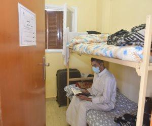 شاهد.. غرف العائدين من الخارج في مدينة جامعة القاهرة (صور)