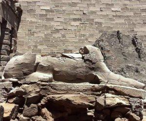 29 تمثالا بالفناء الأول.. كباش معبد الكرنك على خارطة الترميم (صور)