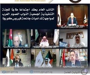 """النائب العام يستعرض الإجراءات الاحترازية لمواجهة كورونا مع النواب العموم العرب عبر """"الفيديو كونفرانس"""""""