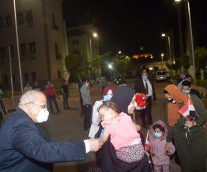 3 أفواج جديدة للعائدين من الخارج تصل مدينة جامعة القاهرة لقضاء الحجر الصحى