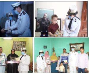 الرئيس يعيد على أسر شهداء وزارة الداخلية بمناسبة عيد الفطر.. ويرسل هدية (صور)