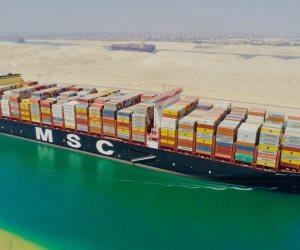 بحمولة 24 ألف حاوية.. قناة السويس تشهد عبور أكبر سفينة حاويات بالعالم (فيديو)