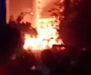 الحماية المدنية بالقاهرة تسيطر علي حريق خط الغاز أسفل كوبري الزيتون