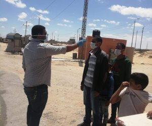 ارتفاع عدد إصابات كورونا لـ6 حالات بشمال سيناء.. والصحة تقيم نقطة طبية لفحص القادمين بمدخل العريش
