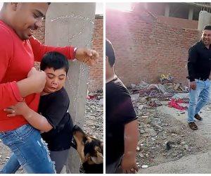 بعض القبض على الجناة.. تفاصيل الاعتداء على طفل من ذوي الاحتياجات الخاصة باستخدام كلب