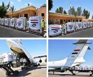 وصول طائرة مساعدات طبية مقدمة من مصر لجمهورية الكونغو الديمقراطية وزامبيا