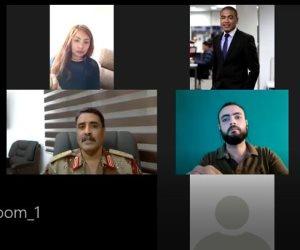خلال لقائه بإعلامين مصريين عبر  الفيديو كونفرانس.. أبرز تصريحات اللواء المسماري بشأن الأوضاع الليبية