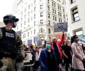 ضحايا قرارات ترامب ..إصابة 19 فردًا من الحرس الوطني بكورونا أثناء التصدي لاحتجاجات أمريكا