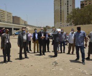 محافظ الجيزة يتابع تنفيذ مشروعات تطوير المناطق الغير مخططة بالأحياء (صور)