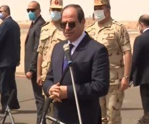 السيسى للميليشيات الليبية: الخط اللى واقفين عليه نحترمه