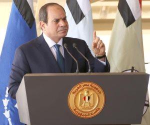 السيسى: مصر لن تقف مكتوفة الأيدي في مواجهة أية تحركات تهدد الأمن القومي العربي