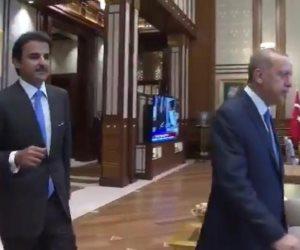 تصريحات السيسي فضحتهم.. أردوغان طلب من تميم زيادة أموال الدعم للمتطرفين في ليبيا