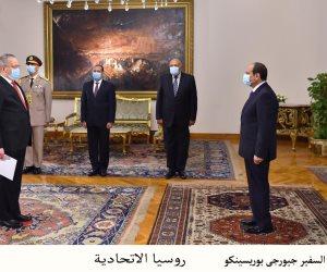 السيسى يتسلم أوراق اعتماد 6سفراء.. ويؤكد الحرص على تعزيز العلاقات (صور)