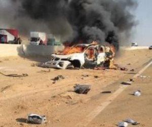 وفاة نجل سالم أبو لافي و2 آخرين في حادث على طريق الإسماعيلة الإقليمي (صور)