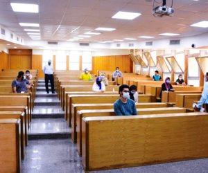 9 كليات بجامعة حلوان بدأت امتحاناتها اليوم وسط إجراءات مشددة