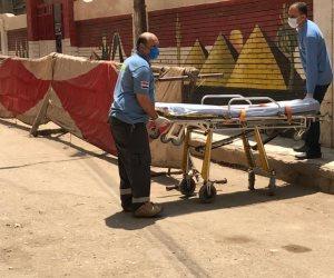 نقل طالبة بعد تعرضها للإغماء بمدرسة الشهيد مختار كامل للمستشفى بالغربية (صور)