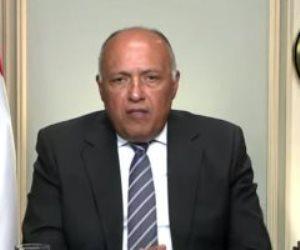 سامح شكرى: زيارة وزير الخارجية اليونانى تمثل تطورا نوعيا بين البلدين