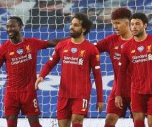 """برايتون ضد ليفربول.. محمد صلاح يواصل التألق ويسجل هدف الريدز الثالث """"فيديو"""""""