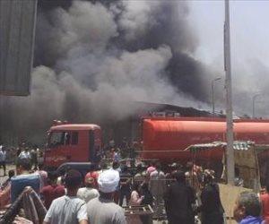 تفاصيل اندلاع حريق سوق توشكى في حلوان.. عشرات المحلات التهمتها النيران (فيديو)