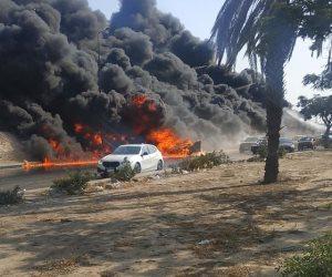 حريق طريق الإسماعيلية: 15 مصابا.. والحماية المدنية تسيطر (فيديو وصور)
