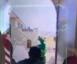 """أول صور لـ""""الرجل الأخضر"""" أثناء اقتحامه مدينة الإنتاج الإعلامى"""