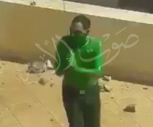 لحظة مقتل الرجل الأخضر في مدينة الإنتاج الإعلامي بعد إصابته ضابط وأمين شرطة (فيديو وصور)