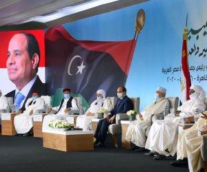 الرئيس السيسي في لقاء القبائل الليبية: مصر لن تسمح بتكرار الرهان على الميليشيات المسلحة
