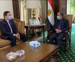 رئيس «الأعلى للإعلام» يستقبل وزير الإعلام اليمني