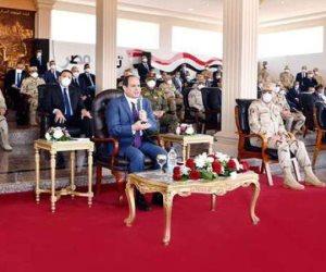 الرئيس السيسى: ألف مليار و100 مليار جنيه لقطاع النقل خلال 10 سنوات