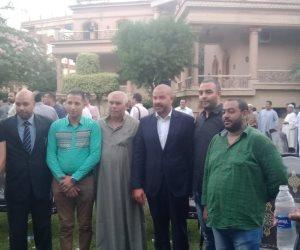 أحمد دياب في زيارة لأبو النمرس: أهالي الجيزة سيضربون أروع الأمثلة في الإقبال على التصويت (فيديو وصور)
