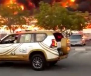 الإمارات: لا خسائر بالأرواح فى حريق سوق عجمان