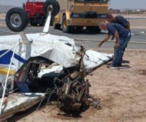 سقوط طائرة شراعية بمطار الجونة ومصرع شخصين.. فيديو يكشف التفاصيل