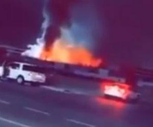 اندلاع حريق فى ساحة قطار الحرمين بالسعودية والدفاع المدنى يحاول إخماده