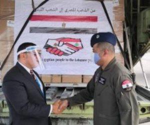 أول طائرات الجسر الجوي المصري تصل لبنان لتقديم الدعم بعد تفجير مرفأ بيروت