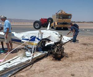 وفاة المصابين جراء سقوط طائرة فى مطار الجونة