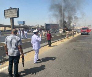 مصدر أمني يكشف تفاصيل حادث مروري وراء انقلاب سيارة نقل مواد بترولية تسببت في إصابة 5 أشخاص