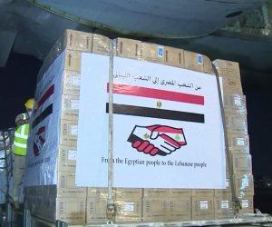 مصر ترسل طائرة المساعدات العسكرية الثالثة إلى لبنان