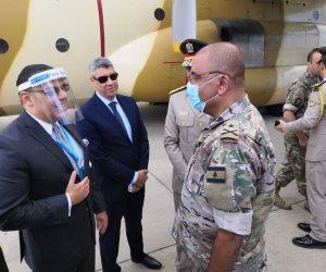 الجسر الجوي المصري يواصل إمداد لبنان بالمساعدات الطبية (صور)