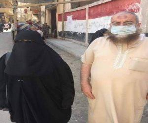 أول ظهور لزوجة ياسر برهامى بلجنة انتخابية فى الإسكندرية
