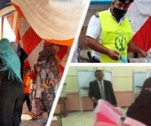 10 صور ترصد اليوم الثاني من انتخابات الشيوخ.. توزيع كمامات على الناخبين الأبرز