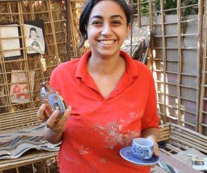 """قصة أول فتاة تعمل فى صناعة الخزف بقنا.. ماذا قالت """"ساندى"""" عن متاعب المهنة؟"""