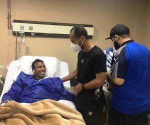 وليد سليمان يزور عبد الشافي في المستشفى: مبروك للزمالك.. لم أقصد إصابتك
