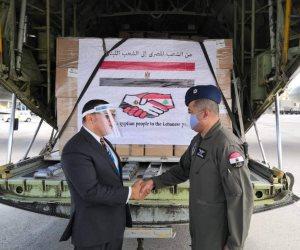 وصول دفعة جديدة من المساعدات المصرية إلى لبنان.. وسفير مصر : لن نتخلى عن بيروت