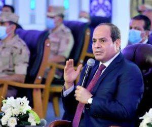 فيديو.. السيسي: أسجل احترامى وتقديرى لوعى المصريين.. وهناك مغرضون يريدون تدمير مصر